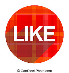 like red flat icon isolated