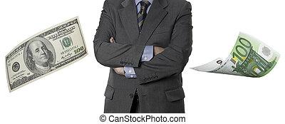 dollaro, Esecutivo, finanziario, effetti,  euro