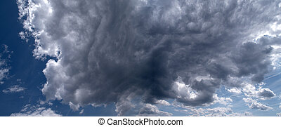 Thunderclouds - A panorama of thunderclouds