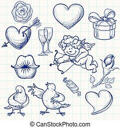 Valentine's day - Hand-drawn valentine's day doodle. Eps8....