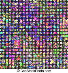 color pencil patternl - abstract texture of little dots and...