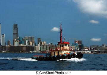 Tug-boat in hong kong