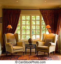 Sitting room - Two chairs in the sitting room of a guest...