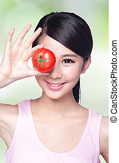tomato with smile face