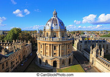 Oxford - The Oxford University City, Photoed in the top of...