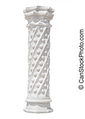 Old column isolated over white background