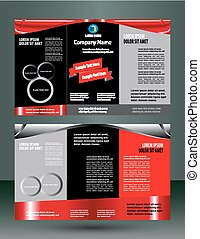 Red and black leaflet flyer