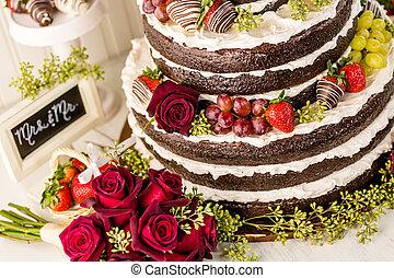 Wedding cake - Gourmet tiered wedding cake at wedding...