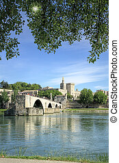 St-Benezet bridge in Avignon, France -...