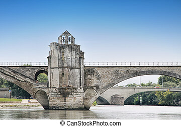 St-Benezet bridge in Avignon, France - medievalbridgein the...