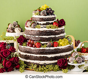 Wedding cake - Gourmet tiered wedding cake at wedding...