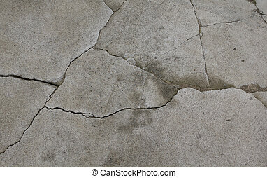 Old grey cement texture with cracks
