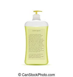 Vector illustration of liquid soap bottle - Transparent...