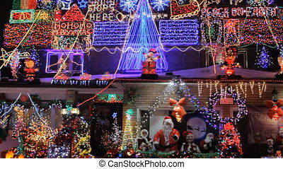 Christmas lights - House with Christmas Lights
