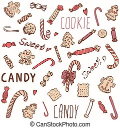 Sweet Candy Cookies Set