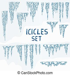 Icicles Ice Winter Set