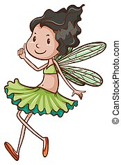 A simple drawing of a fairy