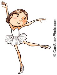 A simple sketch of a young ballerina