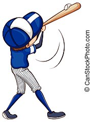 A simple drawing of a baseball player