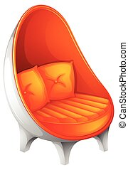 Chair - Illustration of a close up chair