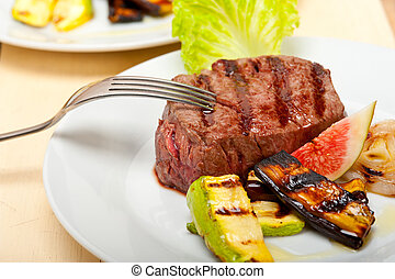 grilled beef filet mignon - grilled fresh beef filet mignon...