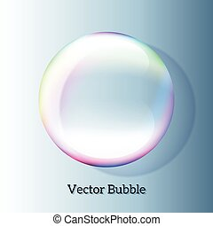 Transparent soap bubble may be used as text placeholder