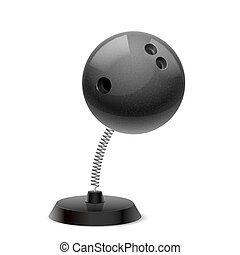 Bowling souvenir - Table souvenir in form of black ball for...