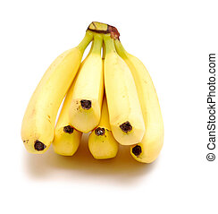 bananas - bunch of bananas isolated on white