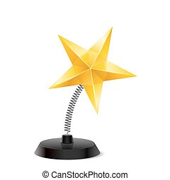 Star souvenir - Table souvenir in form of shiny golden star...