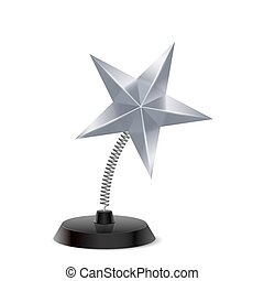 Star souvenir - Table souvenir in form of glossy silver star...