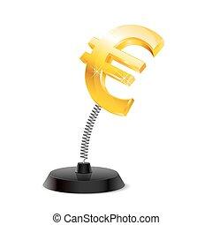 Euro souvenir - Table souvenir in form of glossy euro sign...