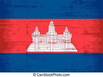 cambodia grunge flag - A flag of Cambodia with a texture