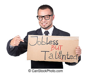 Looking for a job - Creative young man is looking for a job...