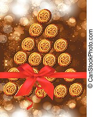Christmas cookies. Cookies summarized in a tree. Cookies for...