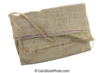 Hessian Bag - A close up shot of a hessian bag