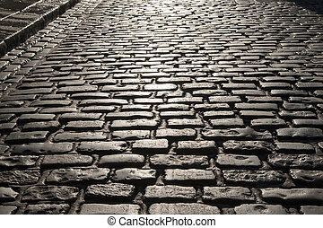 Cobbled Street of Temple Bar, Dublin, Ireland