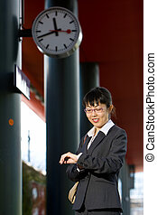Asian business woman travel
