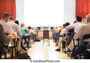 Audience at the conference hall - Business Conference and...