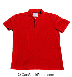 Polo Shirt - Red polo shirt on a white background