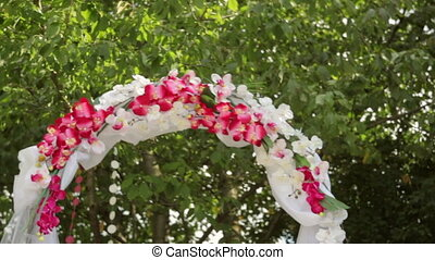 Wedding Arch with flowers