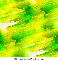 art background green, yellow texture watercolor seamless abstrac