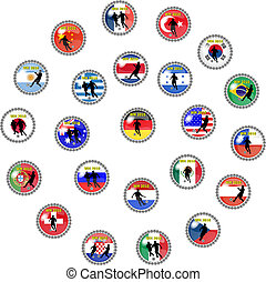 soccer buttons - illustration of soccer buttons -...