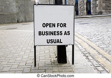 開いた, ビジネス, 印