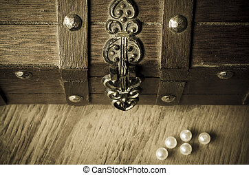 Treasure Chest and Pearls
