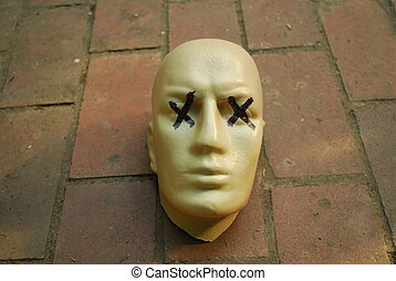 Mannequin Head - plastic mannequin\'s head without body with...