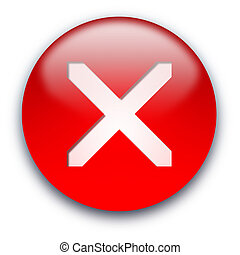 Cross close window button - Red glossy crossed inside button...