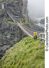 rope bridge at carrick a reed - An image of the rope bridge...