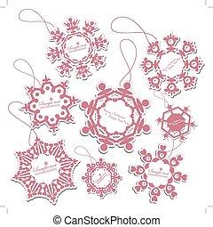 Set of Christmas Tags
