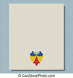 Moravian folk ornament writing paper knit texture background