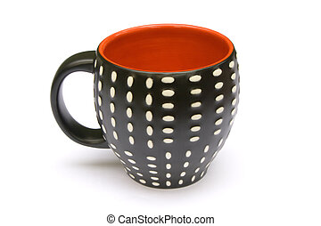 Dotted coffee mug - A coffee mug which is dotted on the...